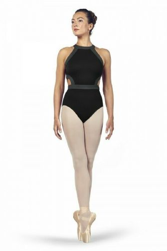 BLOCH Ladies Dance High Neckline Open Back Leotard Shreya L4975 Black